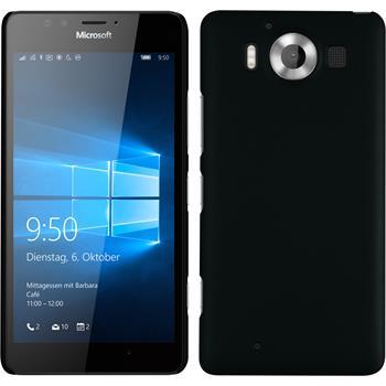 Hardcase für Microsoft Lumia 950 gummiert schwarz