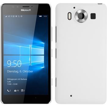 Hardcase für Microsoft Lumia 950 gummiert weiß