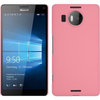 Hardcase Lumia 950 XL gummiert rosa