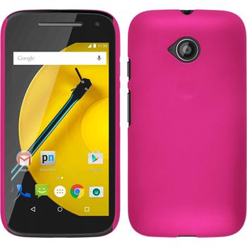 Hardcase for Motorola Moto E 2015 2. Generation rubberized hot pink