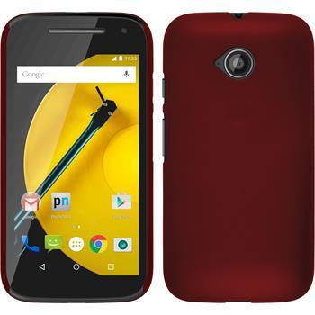 Hardcase for Motorola Moto E 2015 2. Generation rubberized red