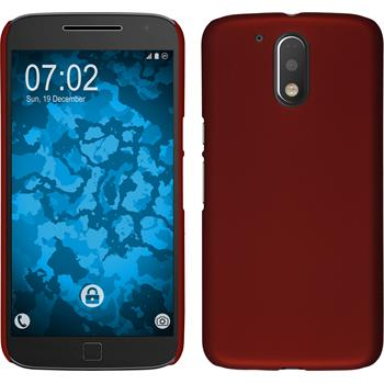 Hardcase für Motorola Moto G4 Plus gummiert rot