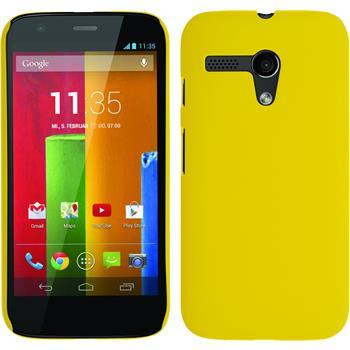 Hardcase for Motorola Moto G rubberized yellow