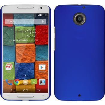 Hardcase für Motorola Moto X 2014 2. Gen. gummiert blau