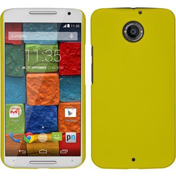 Hardcase für Motorola Moto X 2014 2. Gen. gummiert gelb