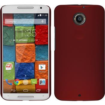Hardcase für Motorola Moto X 2014 2. Gen. gummiert rot