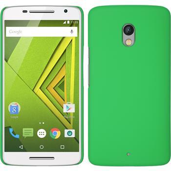 Hardcase für Motorola Moto X Play gummiert grün