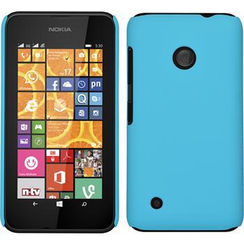 Hardcase für Nokia Lumia 530 gummiert hellblau