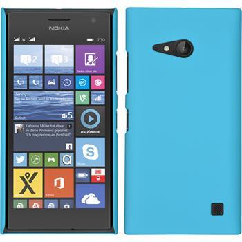 Hardcase Lumia 730 gummiert hellblau