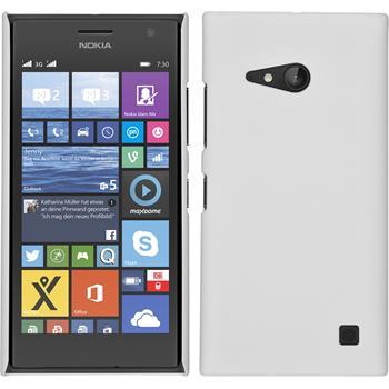Hardcase Lumia 730 gummiert weiß