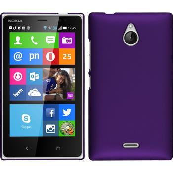 Hardcase für Nokia X2 gummiert lila