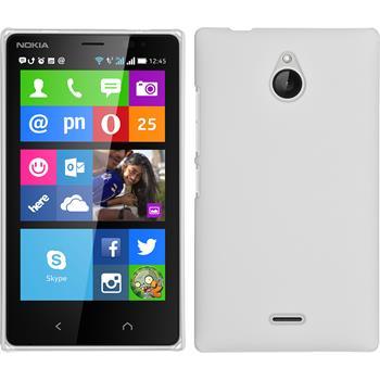 Hardcase Nokia X2 gummiert weiß + 2 Schutzfolien