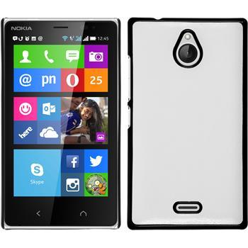 Hardcase Nokia X2 Lederoptik weiß + 2 Schutzfolien