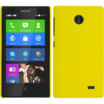 Hardcase for Nokia X / X+ rubberized yellow