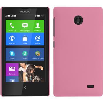Hardcase für Nokia X / X+ gummiert rosa