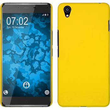 Hardcase OnePlus X gummiert gelb