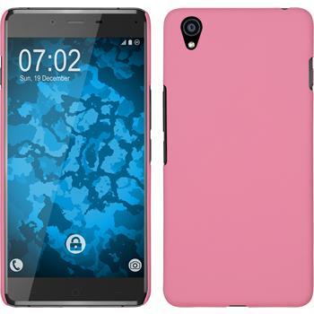 Hardcase für OnePlus OnePlus X gummiert rosa