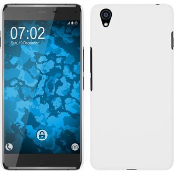 Hardcase OnePlus X gummiert weiß