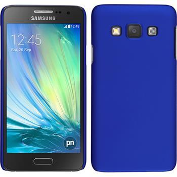 Hardcase für Samsung Galaxy A3 (A300) gummiert blau