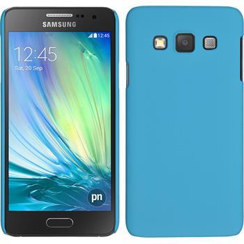 Hardcase Galaxy A3 (A300) gummiert hellblau + 2 Schutzfolien