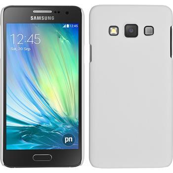 Hardcase Galaxy A3 (A300) gummiert weiß + 2 Schutzfolien
