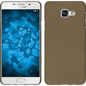 Hardcase für Samsung Galaxy A5 (2016) A510 gummiert gold
