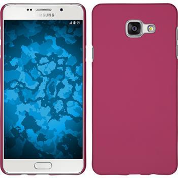 Hardcase Galaxy A5 (2016) A510 gummiert pink + 2 Schutzfolien
