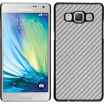 Hardcase Galaxy A5 (A500) Carbonoptik silber + 2 Schutzfolien