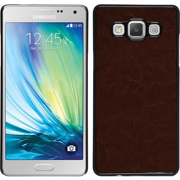 Hardcase for Samsung Galaxy A5 leather optics brown