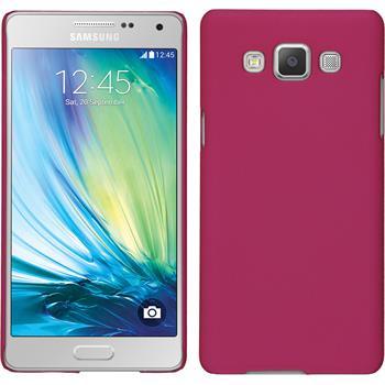 Hardcase für Samsung Galaxy A5 (A500) Lederoptik pink