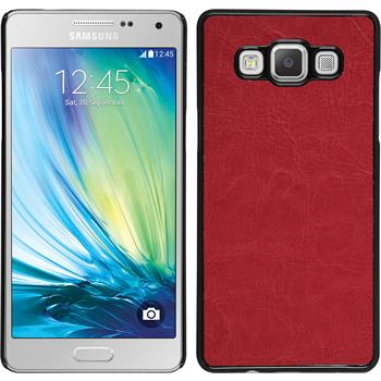 Hardcase for Samsung Galaxy A5 leather optics red