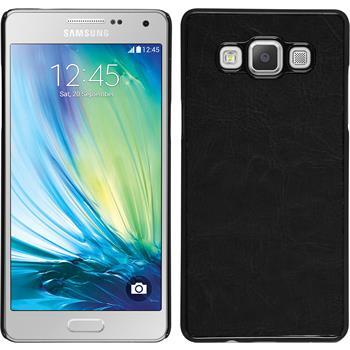 Hardcase Galaxy A5 (A500) Lederoptik schwarz