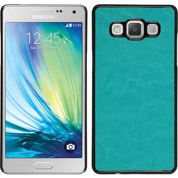 Hardcase for Samsung Galaxy A5 leather optics turquoise
