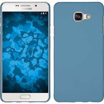 Hardcase Galaxy A7 (2016) A710 gummiert hellblau + 2 Schutzfolien