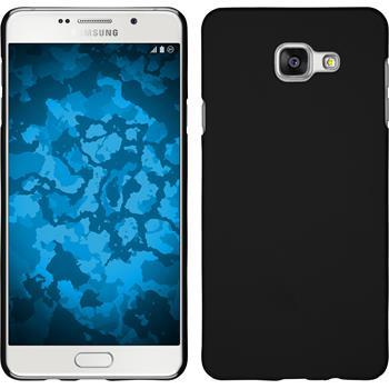 Hardcase Galaxy A7 (2016) A710 gummiert schwarz + 2 Schutzfolien