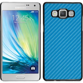Hardcase Galaxy A7 (A700) Carbonoptik blau