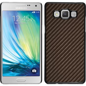 Hardcase Galaxy A7 (A700) Carbonoptik bronze