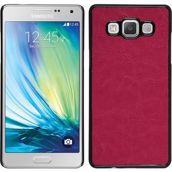 Hardcase Galaxy A7 (A700) Lederoptik pink