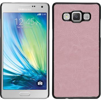 Hardcase Galaxy A7 (A700) Lederoptik rosa