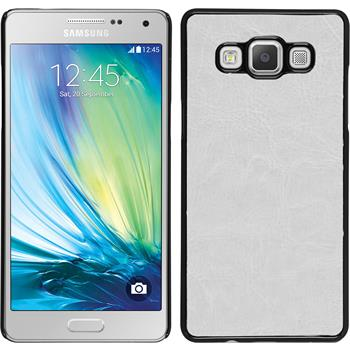 Hardcase for Samsung Galaxy A7 leather optics white