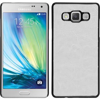 Hardcase Galaxy A7 (A700) Lederoptik weiß
