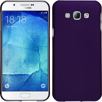 Hardcase Galaxy A8 (2015) gummiert lila + 2 Schutzfolien