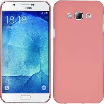 Hardcase Galaxy A8 (2015) gummiert rosa + 2 Schutzfolien