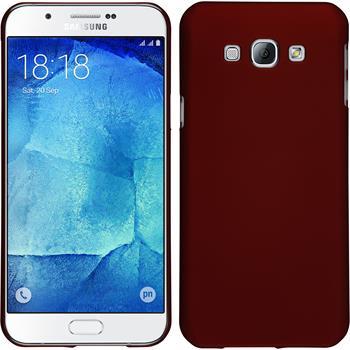 Hardcase Galaxy A8 gummiert rot