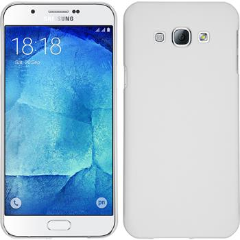 Hardcase Galaxy A8 gummiert weiß