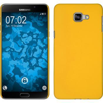 Hardcase Galaxy A9 gummiert gelb