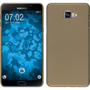 Hardcase Galaxy A9 gummiert gold