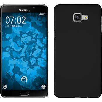 Hardcase Galaxy A9 gummiert schwarz