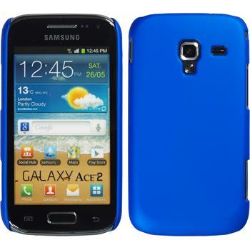 Hardcase Galaxy Ace 2 gummiert blau + 2 Schutzfolien