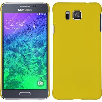 Hardcase Galaxy Alpha gummiert gelb